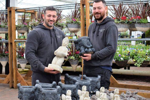Carl Pitts and Sam Smith at Tong Garden Centre